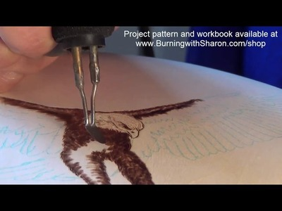 Pyrography: How to Woodburn an Eagle Part 1 – Torso, Black Feathers, and White Feathers