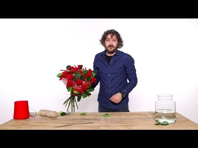 Romantic Valentine's Day bouquet | Flower Factor How to Make | Powered by Arend Roses