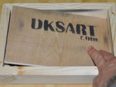 Secret Compartment Wood Art Canvas - DIY Stuff by DKS