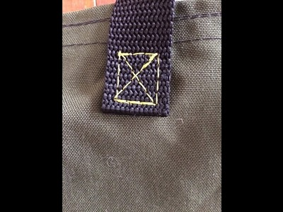 "Sewing for guys: sewing a ""Box X"" stitch"