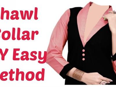 Shawl Collar - DIY Easy Method