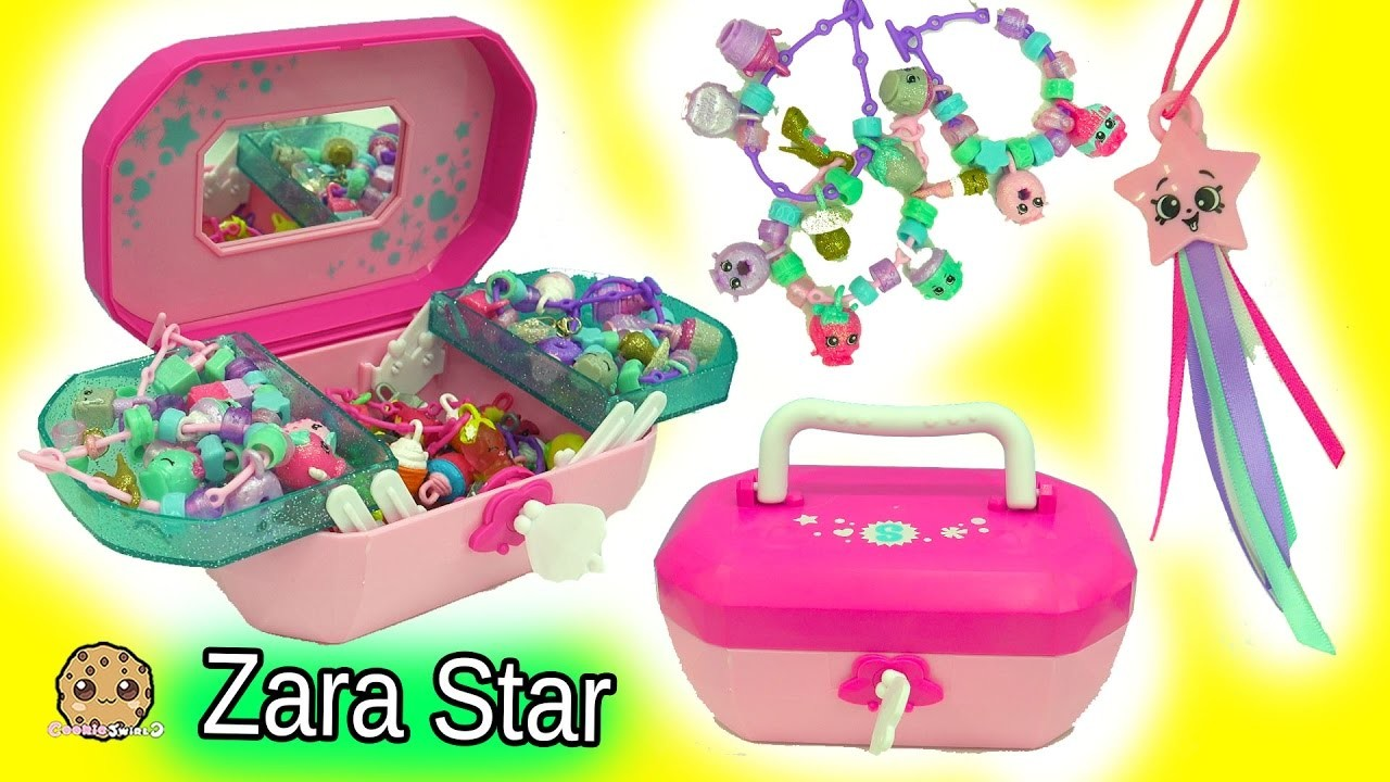 Shopkins Jewelry Box 18 Exclusive Shopkins Charms + Season 6 Zara Star + Crystal Surprise