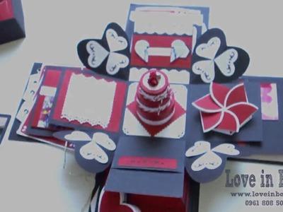 Special Love box - Exploding box - Handmade box - Love in Box - tự làm love box