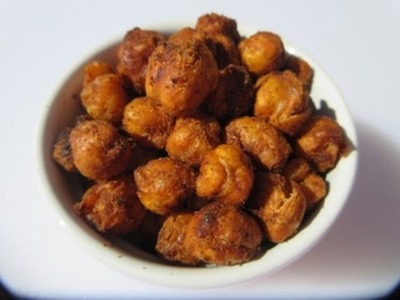 SUPER BOWL ROASTED CHICKPEAS - How to make OVEN ROASTED CHICKPEAS Recipe