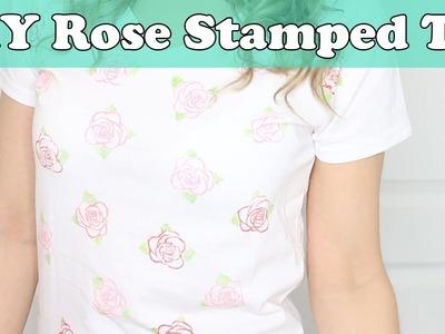 The Final Rose Bachelor Shirt | DIY Rose Stamped Shirt