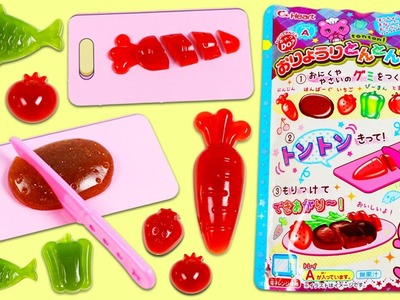Ton Ton DIY Japanese Gummy Candy Making Kit Cutting Fruits Vegetables and More!