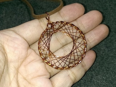 Wire pendant - How to make wire jewelery 191