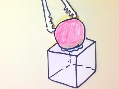 스톱모션 1000℃ 쇠구슬로 얼음녹이기[토이러브] DIY stop motion Making ICE melt with iron ball at 1000 ℃[Sophie Toy]