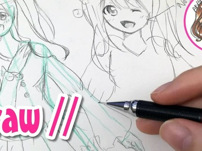 AngieARTmanga Drawing Christmas Dress Tutorial 直播