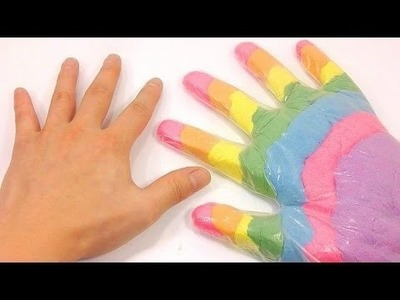Baby ToY Finger Rainbow Colors Kinetic Sand Sand DIY Learn Colors Slime Foam Clay