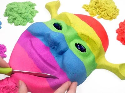 BINGO - DIY How To Make Color Kinetic Sand Skull Cake Learn Colors Slime Clay Ice Cream Toy for Kids