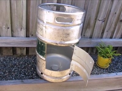 Building a DIY fire pit using a Beer Keg.