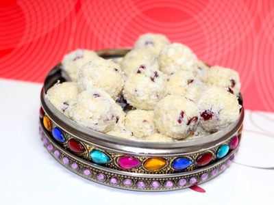 Christmas Snow Balls | Malai Nariyal Coconut Laddu or Ladoo Video Recipe | Bhavna's Kitchen