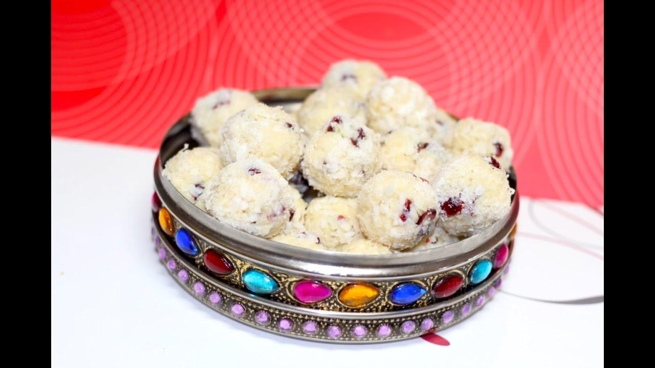 Christmas Snow Balls | Malai Nariyal Coconut Laddu or Ladoo Video Recipe | Bhavna's Kitchen