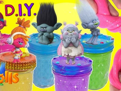 D.I.Y. DREAMWORKS TROLLS MOVIE Poppy Branch, Play-Doh Lids,  Toy Surprise Blind Boxes