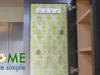 Display Photos, Schedules and More With This DIY Magnetic Kitchen Organizer | Home Made Simple | OWN