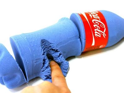 DIY Colors Blue Kinetic Sand Coca Cola Bottle