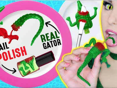 DIY Edible Alligator Meat Nail Polish: Using REAL Alligator Meat! | EAT Reptile Flesh Nail Polish!