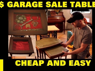 DIY Five dollar garage sale tables, How to build a display table for your relics