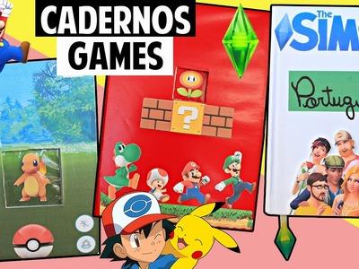 DIY GEEK: CADERNOS CRIATIVOS - THE SIMS.SUPER MARIO.POKEMON GO