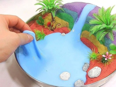 DIY How To Make Colors Kinetic Sand Slime Clay Beach Learn Colors Icecream Toy Surprise - Kids Songs