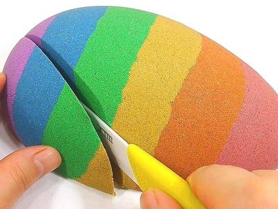 DIY How To Make 'Colors Kinetic Sand Big Egg' Learn Colors Pez | Baa Baa Black Sheep ABC Song BINGO