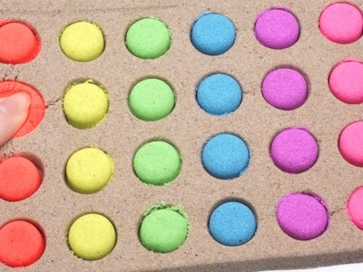 DIY How To Make Colors Mini Dot Kinetic Sand Glitter Clay Slime Spoon