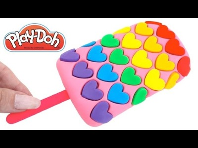 DIY How to Make Play Doh Heart Popsicle Modelling Clay Learn Colors RL