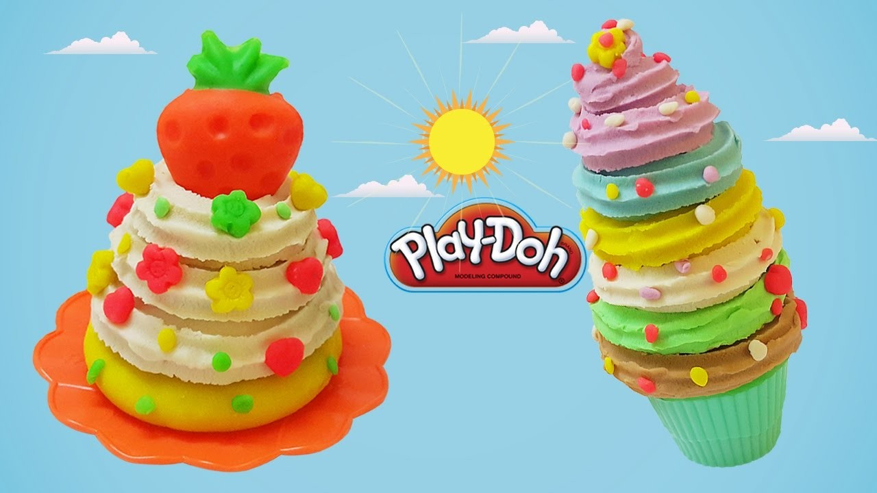 Cake Ice Cream Play Doh : DIY How to Make Play Doh Ice Cream & Cake Modelling Clay ...