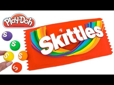 DIY How to Make Play Doh Skittles Pack Modelling Clay Learn Colors RL