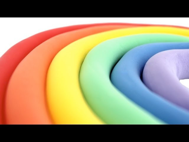 DIY How To Make Rainbow with Play Doh Modelling Clay Compilation RL