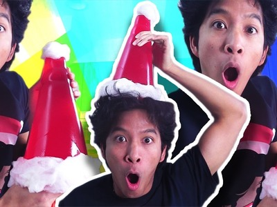 DIY JELLO GUMMY SANTA HAT!!!
