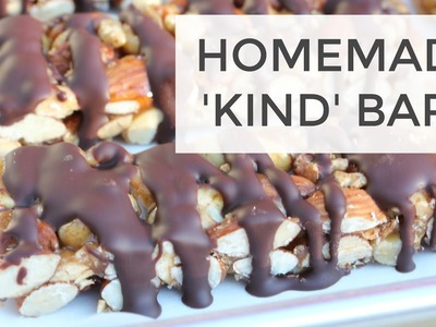 DIY KIND Bars Recipe | A Clean Eating Snack Recipe