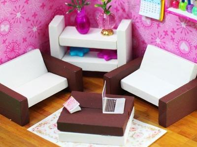 DIY Miniature Dollhouse Furniture - simplekidscrafts