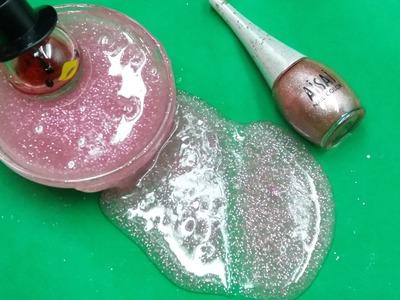 DIY Nail Polish Slime, How to make Slime with Nail Polish No Borax