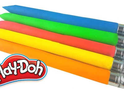 DIY Play Doh Pencils Rainbow Modeling Clay for Kids Clay Modelling ToyBoxMagic