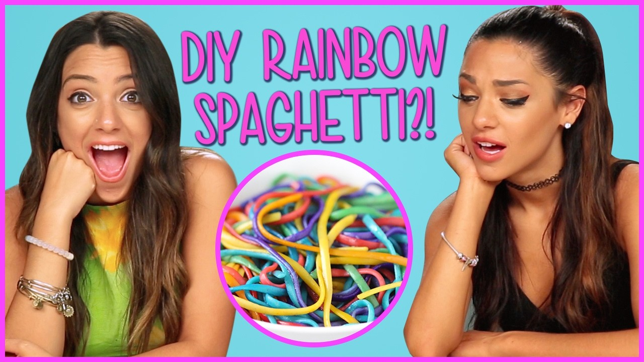 DIY RAINBOW SPAGHETTI?! DIY or DI-Don't w. Niki and Gabi!