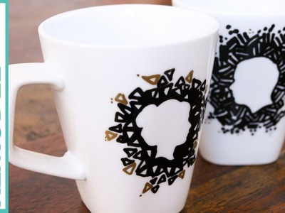 DIY Silhouette Sharpie Mugs for Valentines Day