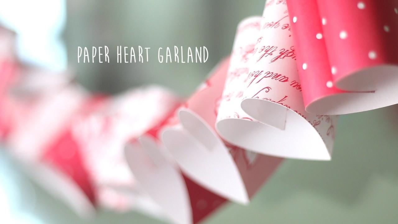 DIY: Valentine Paper Heart Garland