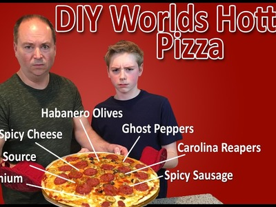 DIY World's Hottest Pizza (Plutonium, Carolina Reaper, The Source, Ghost Pepper) : Crude Brothers