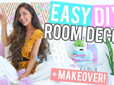 EASY DIY Room Decor. DIY MAKEOVER 2017! + Mini Room Tour! Cheap + Affordable!