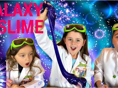 Galaxy Slime!  How To Make GALAXY GLITTER SLIME!
