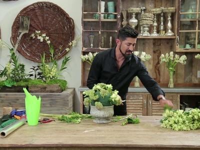 """Half Moon"" DIY Floral Arrangement"