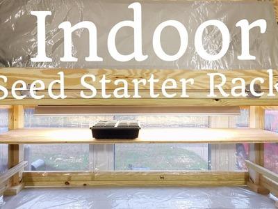 HD DIY Indoor Seed Starter Rack with Grow Light