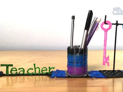 How to Doodle: Teacher's Desk Organizer
