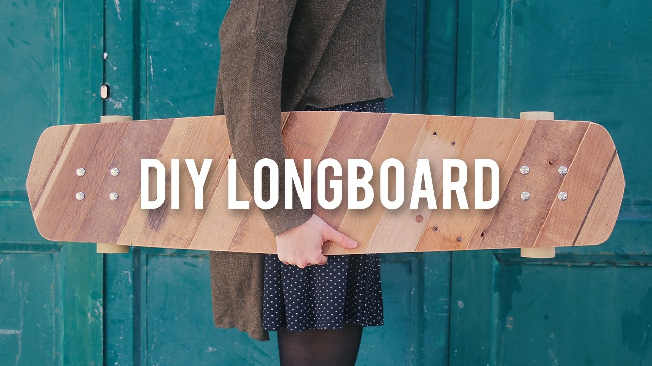How to make a Longboard with Pallet wood - DIY