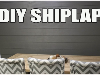 HOW TO MAKE YOUR OWN SHIPLAP - DIY SHIPLAP WALL