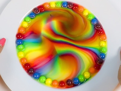 Melting Skittles Rainbow Designs Trick Fun & Easy DIY Experiment!