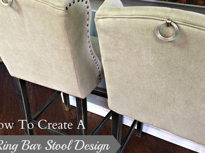 NEW DIY!  How To Create A Pull Ring Bar Stool Design