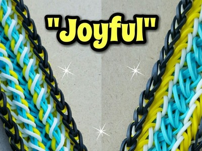 "New ""Joyful "" Rainbow Loom Bracelet. How To Tutorial"